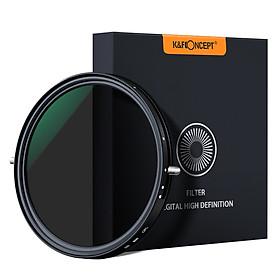 Bộ Lọc Phân Cực Trung Tính Siêu Mỏng 2 Trong 1 Có Vải Lau Dành Cho Máy Ảnh Canon Sony Nikon K&F CONCEPT ND2-ND32 (72mm)