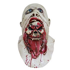Halloween Charlie Latex Mask Scary Mask Full Head Face Breathable Halloween Mask Horrible Mask Disgusting Face