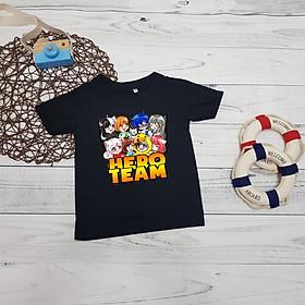 Áo thun trẻ em Hero Team - màu Đen Unisex