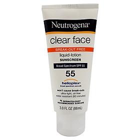 Kem Chống Nắng Neutrogena CLEAR FACE Cho Da Dầu - Mụn KOREA