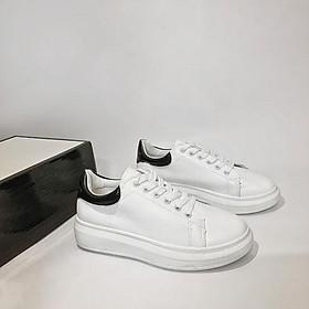 Giày Sneaker Nam Nữ Đế Cao Màu Trắng