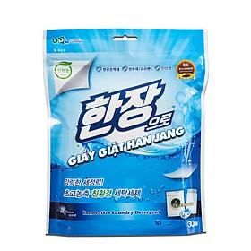 Giấy giặt quần áo Han Jang túi 30 tờ - Đỉnh cao công nghệ giặt tẩy - Có thể thay thế bột giặt và nước giặt