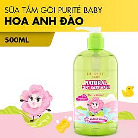 [Hàng Chính Hãng] Sữa Tắm Gội Thiên Nhiên Hoa Anh Đào Purité Baby 500ml