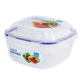 Hộp Salad Lock&Lock HSM8450T 1.6L & Khay Nước Sốt