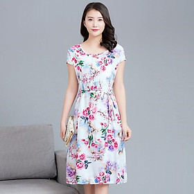 Đầm bầu hoa lá cột dây xinh Haint Boutique B109