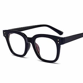 Gọng Kính xinh, Gọng Kính cận, Kính Mắt vuông nhựa đen thời trang GMWW01 + tặng tuavit Kính Xinh mini đa năng