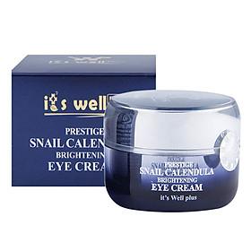 Kem Dưỡng Làm Mờ Nếp Nhăn Vùng Mắt Từ Ốc Sên & Calendula It's Well Plus Snail Calendula Prestige Brightening Eye Cream CPEC (30g)