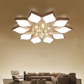 Đèn chùm pha lê phòng khách, đèn mâm ốp trần trang trí - OPLADY0610
