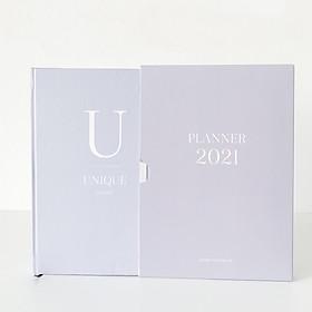 Sổ tay Planner 2021 Crabit Notebuck - Sổ Kế hoạch 2021 Bìa cứng - Lịch năm, tháng, tuần, trang dot, bản đồ Việt Nam