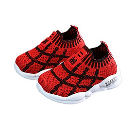Children Casual Shoes for Boys Kids Girls Sneakers Breathable Anti-Slip Plaid Print Shoes Toddler Soft Soled Shoes