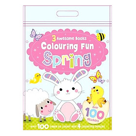 Sách tô màu 3 Awesome Books: Colouring Fun Spring
