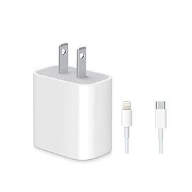 Bộ củ cáp sạc nhanh 18W dùng cho iPhone 11 / iPhone 11 Pro Max / iPhone 11 Pro / iPad (sạc nhanh PD 3.0, kèm cáp sạc Type-C to lightning)