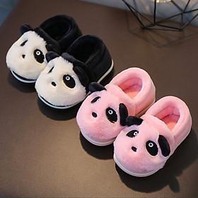 Giày bông mùa đông ấm áp đôi chân cho bé trai hình gấu trúc xinh xắn-3