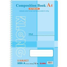 Sổ lò xo đơn A4 - 500 trang; Klong TP396 màu xanh