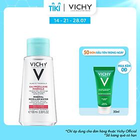 Nước tẩy trang giàu khoáng dành cho da nhạy cảm Vichy Pureté Thermale Micellar Water 100ml