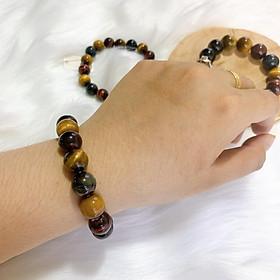 Vòng tay Phong Thủy đá Mắt Hổ ngũ sắc Cao Cấp – Biểu tượng mang đến sự May Mắn, Thịnh Vượng, Tiền Tài và Hạnh Phúc cho Gia Chủ