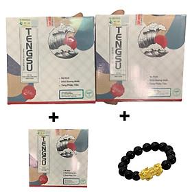 Combo 2 hộp Viên ngậm TENGSU hỗ trợ sinh lý dành cho Nam, Tặng 1 hộp Viên ngậm Tengsu và vòng tay Tỳ Hưu