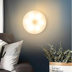 Đèn led cảm ứng 6 bóng sạc pin, ứng dụng phong phú: đèn ngủ, đèn trần, đèn tủ