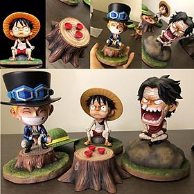 Mô Hình One Piece Bộ Ba '' Luffy , Ace , Sabo'' Đáng Yêu Bản Cao Cấp