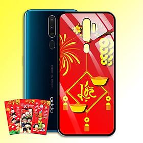 Ốp Lưng Kính Cường Lực cho điện thoại Oppo A9 2020 - 0383 7969 LOC02 - Tặng kèm bao lì xì Chúc Mừng Năm Mới - Hàng Chính Hãng