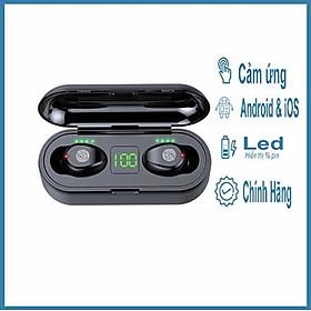 Tai nghe bluetooth không dây F9 True wireless Dock Sạc có Led Báo Pin Kép