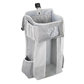 Baby Crib Bed Hanging Bag Rack Bedside Diaper Organizer Bag PP Support Plate