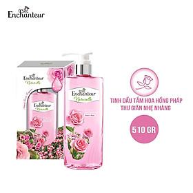 [Hộp quà  Enchanteur] Tinh dầu tắm Enchanteur Naturelle Rose thư giãn nhẹ nhàng Naturelle Rose 510gr