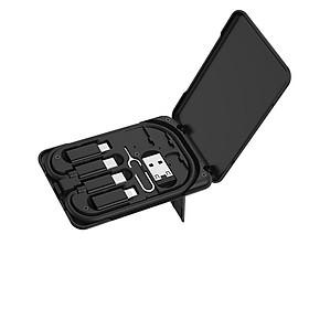 Bộ cáp sạc Hoco 6-in-1 cho tốc độ sạc nhanh U86 ( Đen)- Hàng chính hãng