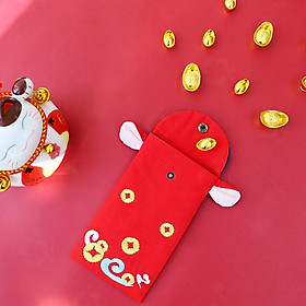 Embroidered Bull-shaped Red Envelope New Year Red Envelope Fabric Red Packet Chinese New Year Red Packet