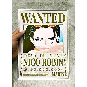 Poster One Piece Robin Mới Nhất, Poster Lệnh Truy Nã Nico Robin (Hình dán tường tiện lợi, Chất lượng Full HD) - P_OP_Robin_Mini