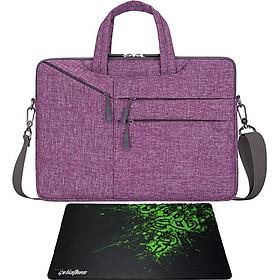 Túi chống sốc có dây đeo và nhiều túi phụ cho MacBook - tặng bàn di chuột