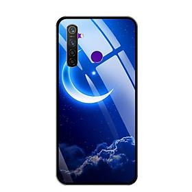 Ốp lưng kính cường lực cho điện thoại Realme 5 Pro - 0220 MOON01 - Hàng Chính Hãng