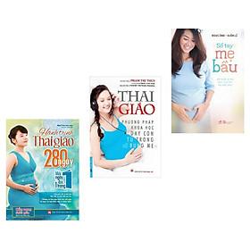"""Combo hành trình thai giáo 280 ngày +sổ tay mẹ bầu +thai giáo phương pháp khoa học dạy con từ trong bụng mẹ(Tặng Kèm 7 cách """"CHƠI ĐÙA"""" cùng thai nhi để con THÔNG MINH từ trong bụng mẹ)"""