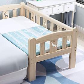 Giường cũi cho trẻ em quây 3 mặt ghép giường cha mẹ size 128*60*40cm chất liệu gỗ thông