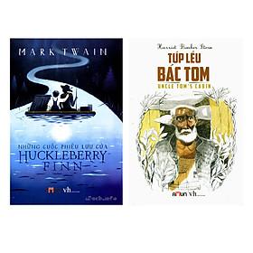[Download sách] Combo 2 Cuốn Những Cuộc Phưu Lưu Của Huckleberry Finn Và Túp Lều Bác Tom (Tái Bản)