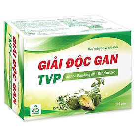 Thực phẩm bảo vệ sức khỏe GIẢI ĐỘC GAN TVP - Hỗ trợ giải độc gan, mát gan, bảo vệ gan (50 viên)