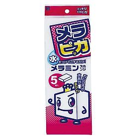Set 5 miếng mút lau chùi Melamine nội địa Nhật Bản