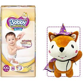 Tã Quần Cao Cấp Bobby Extra Soft Dry XXL46 (46 miếng) - Tặng 1 cáo bông xinh xắn