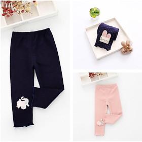 XẢ LẺ SIZE - Quần legging thun cotton xuất Hàn cho bé gái
