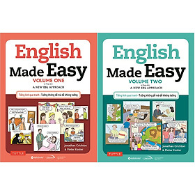 Combo Trọn Bộ 2 Cuốn Học Tiếng Anh Qua Hình Ảnh Cho Người Mới Bắt Đầu ( English Made Easy:Volume One + English Made Easy: Volume Two ) tặng kèm bookmark Sáng Tạo