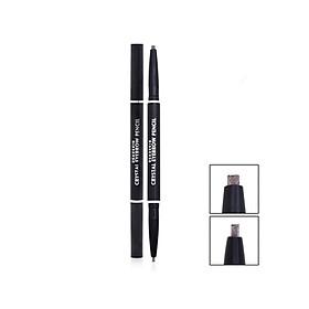 Chì kẻ mày 2 đầu không lem, không trôi Beauskin Eyebrow Crystal Eyebrow Pencil #03 Màu Khói - Hàn Quốc Chính Hãng