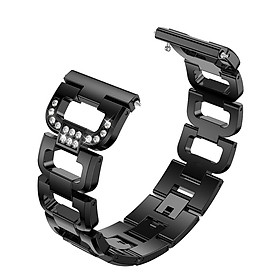 SDXHJ013 Watch Bracelet Fitbit Strap Stainless Steel Metal Link Bracelet Wristband Replacement for Fitbit Versa