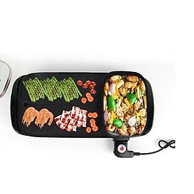 bếp lẩu nướng đa năng 2 in 1 - bếp lẩu nướng điện không khói