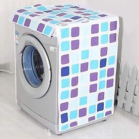 Bạt Áo Trùm Máy Giặt Cửa Trên, Cửa Ngang Vải Dù Siêu Dày, Chống Thấm Nước, Không Phai Màu - (Giao Màu - Họa Tiết Ngẫu Nhiên)