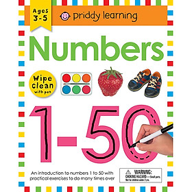 Wipe Clean Workbook: Numbers 1-50