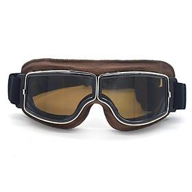 Leather Vintage Scooter Goggles Pilot Ski Sunglasses Helmet Eyewear Frame