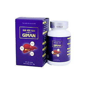 GIẢI ĐỘC GAN GIMAN -  Giải độc gan, bảo vệ tế bào gan, giải bia rượu, ngăn ngừa xơ gan, gan nhiễm mỡ - Lọ 60 viên nang