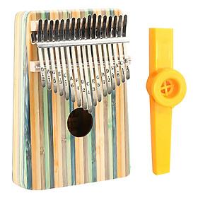 Đàn Kalimba 17 Phím Gỗ Trúc Yael Y17B-G Kèm Kèn Kazoo - Trúc xanh