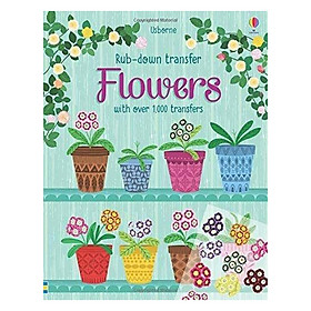 Usborne Rub-Down Transfer Book Flowers