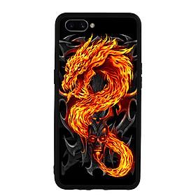Ốp lưng Viền TPU Cho Điện Thoại Realme C1 - Fire Dragon